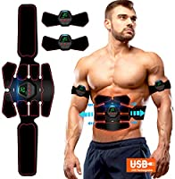 ROOTOK Electrostimulateur Musculaire EMS Stimulateur, EMS Ceinture Abdominale Electrostimulation USB Charge,smart fitness...
