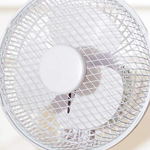 Fine Elements COL1248 6-Inch, 2 Speed Settings, Rotary Switch, Base, Portable Clip Fan for Home/Office-White, One Size
