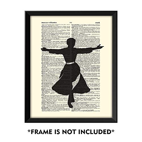 SUMGAR Vintage Posters and Prints The Sound of Music Classic Musical Artwork Upcycled Dictionary Art 8x10 Unframed