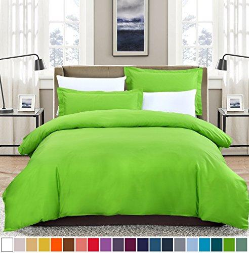 SUSYBAO 3 Pieces Duvet Cover Set 100% Cotton Queen Size 1 Du