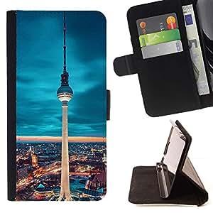Momo Phone Case / Flip Funda de Cuero Case Cover - Berlín Torre;;;;;;;; - HTC Desire 626