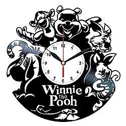 Queen Clocks Winnie The Pooh Wall Clock Vinyl Record - Disney Nursery Decor - Birthday Gift for Women