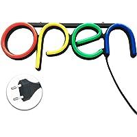 MOOUK Led-lichtbord open, lichtreclame geopend, neonlicht lichtreclame lichtreclame voor bar, etalagereclame, zakelijk…