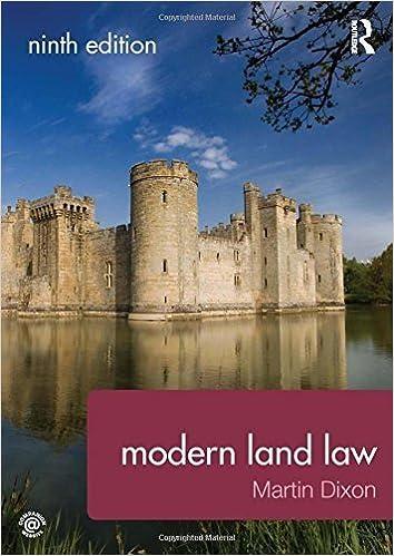 Modern Land Law by Martin Dixon (2014-03-04)