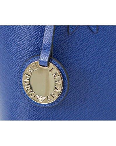 Cuoio à femme Blu porter à Sac Armani l'épaule Emporio pour H7qwgzWv