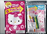 Sanrio Hello Kitty Play Pack Grab & Go Pink Flowers Coloring Book and Crayons Set with Sticker Sheet
