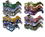 3Dstereo Holiday Eyes - 12 pairs of Glasses - 12 Different Styles - New: MRS CLAUS & JINGLE BELLS -Turn Christmas Lights Into Magical Images - Ships Ships FOLDED & Sleeved