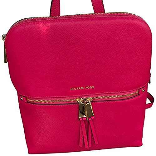 Michael Kors Back Zip Satchel - Michael Kors Rhea Medium Slim Backpack Ultra Pink