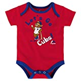 Chicago Cubs Let's Go Cubs Infant Onesie Size 18 Months Bodysuit Creeper Red