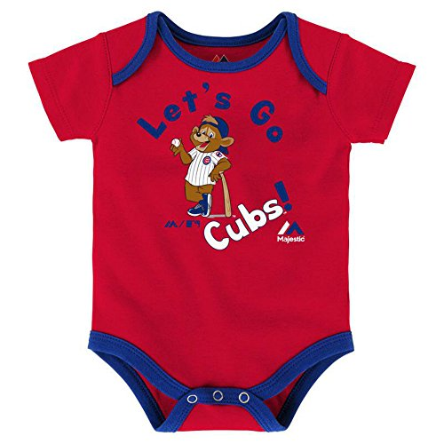 Cubs Chicago Onesie (Chicago Cubs Let's Go Cubs Infant Onesie Size 18 Months Bodysuit Creeper Red)