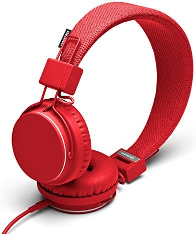 Urbanears Plattan – Collapsible Classic Headphones with Handmade Drivers, Remote and Sharing ZoundPlug – Tomato