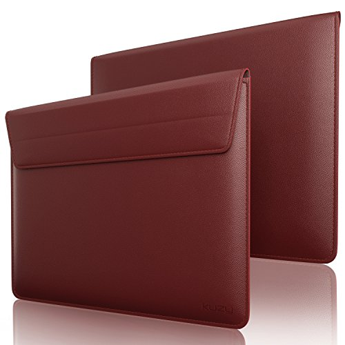Kuzy Wine RED Leather Sleeve Case for MacBook Pro 13