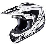 HJC Helmets Unisex-Adult Off-Road Helmet (White/Silver, Small) (CS-MX II Edge MC-5)
