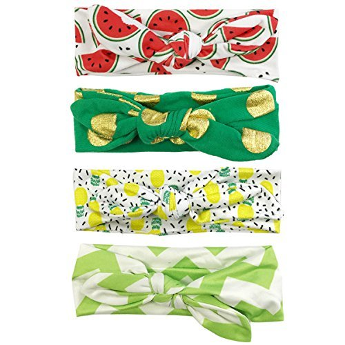 Wrapables Girls Boho Knotted Fruity Headband (Set Of 4)