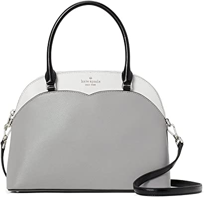 Kate Spade Payton Colorblock Medium Dome Satchel Leather Crossbody Bag Purse Handbag