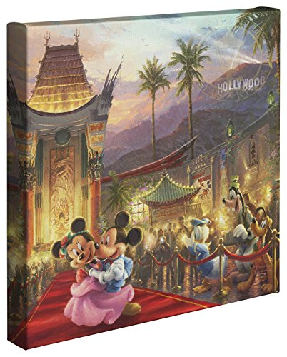 Thomas Kinkade Disney Mickey and Minnie in Hollywood