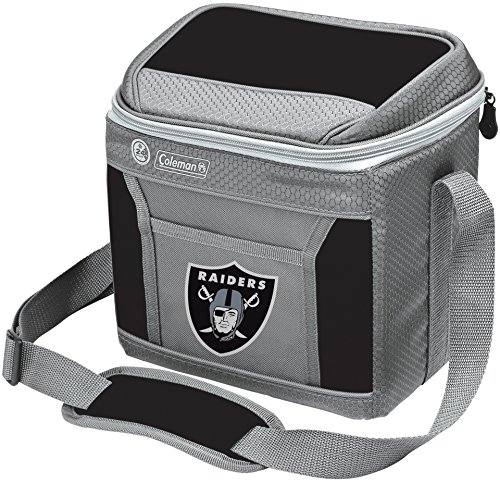 NFL Soft-Sided Insulated Cooler Bag, 9-Can Capacity with Ice (Raiders Merchandise)