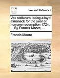 Vox Stellarum, Francis Moore, 1170514634