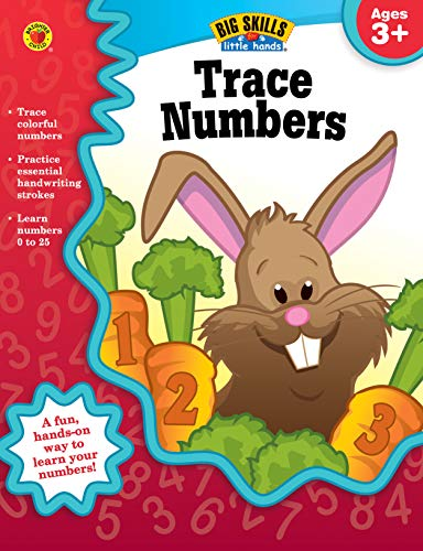 Trace Numbers Workbook, Grades Preschool - K (Big Skills for Little Hands®)