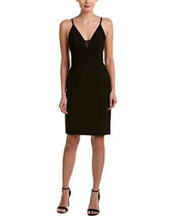 8c5e128446 Alice + Olivia Jean Lace-Inset Fitted Sleeveless Dress