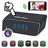 Spy Camera Clock WiFi Hidden Camera HD 1080P Mini Small Wireless Camera Pinhole Home Security Surveillance Nanny Cam with 12 Pcs IR Night Vision, Motion Detection Alarm (Phoncoo 2018 Upgrade)
