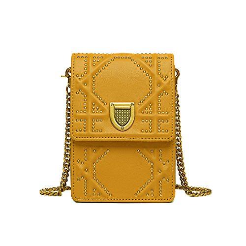 Cellphone Shoulder Mini Fashion Messenger Bag Travel Bag Purse Yellow Wallet IS7n7AU