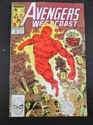 Avengers West Coast #50 : Return of the Hero (Re-Intro of the original Human Torch - Marvel Comics)