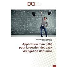 Application d'un (SIG) pour la gestion des eaux d'irrigation dans mco