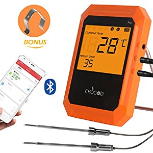 uvistare BBQ Meat Thermometer, Bluetooth Remote Cooking Thermometer, Wireless Digital Thermometer 6 Probe Port Smoker Grilling Oven Kitchen from fabulous uvistare