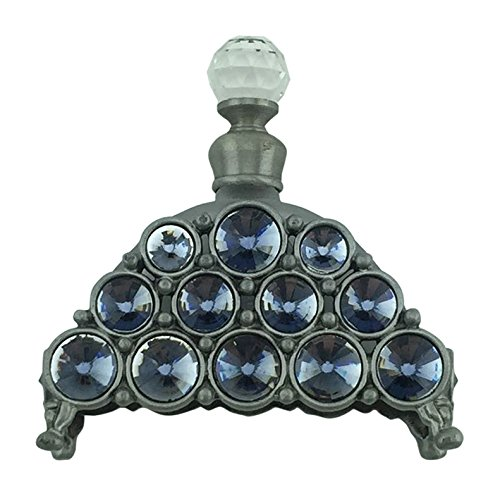 Welforth Pewter with Glass Stones Perfume Bottle