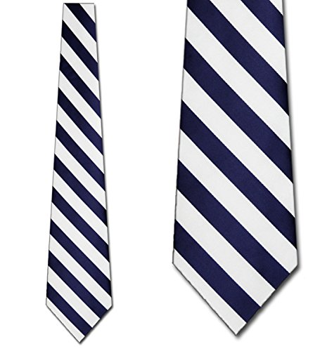 Mens College Rep Stripes Navy and White Striped Ties (Tie Stripe Rep)