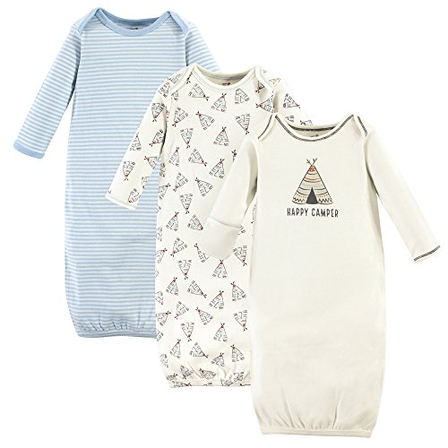 Touched by Nature Baby Organic Cotton Gown, Teepee, 0-6 (Baby Cotton Bottoms)