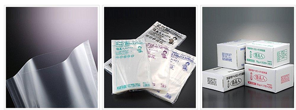 ナイロン保存用ポリ袋 五層三方規格袋 彊美人 80ミクロン X-2635 80×260×350 1000枚入 B005VQFX1E