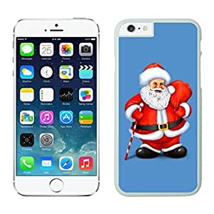 Iphone 6 Cases,Customized Portfolio Christmas Red Green Decoration White Protective Case For Iphone 6 4.7 Inch