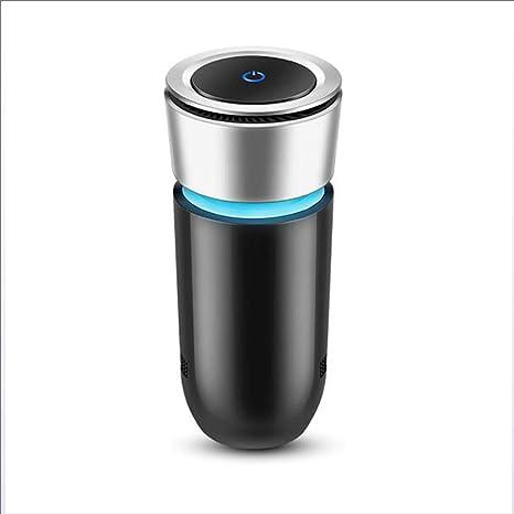 ZXTiL Ozono del Coche Purificador de Aire iónico purificador de Aire Eliminar Humo Olor Bacterias Mini Función de purificador de ozono con Cargador de teléfono para Auto: Amazon.es: Deportes y aire libre