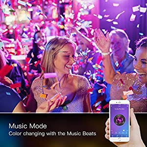 LED Strip Lights, L8star Color Changing Rope Lights 16.4ft SMD 5050 RGB Light Strips with Bluetooth Controller Sync to Music Apply for TV, Bedroom, Party and Home Decoration (16.4ft)