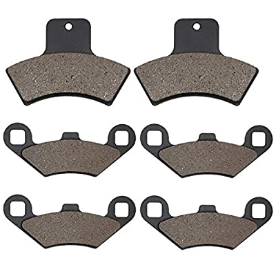 Cyleto Front and Rear Brake Pads for POLARIS 500 Sportsman/Worker 4 x 4 EBS / 500 RSE 1998 1999 2000 2001 2002: Automotive