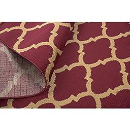 Ottomanson Royal Collection Contemporary Moroccan Trellis Design Area Rug, 5\'3\