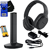 Sony MDRRF995RK Wireless RF (Radio Frequency) Headphone with Transmitter Base Station + Stereo Connecting Cable + AC Adaptor + HeroFiber Ultra Gentle Cleaning