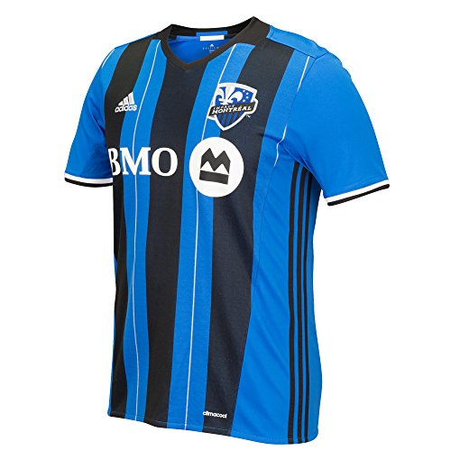 fan products of MLS Impact Montreal Men's Replica Short Sleeve Team Jersey, Smoke, X-Large