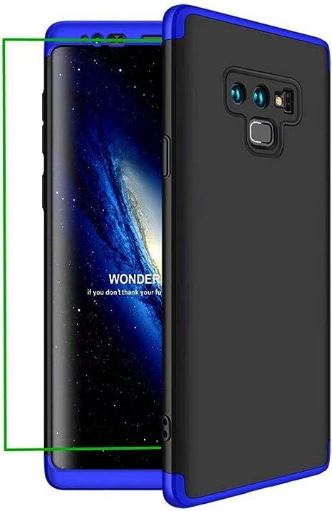 AILZH Compatibles para Funda Samsung Galaxy Note 9 Carcasa+[Protector de Pantalla Suave HD] 360 Grados Caja protección de cáscara Dura Anti-Shock Caso Mate Bumper Antichoque Case Cover(Azul Negro): Amazon.es: Electrónica