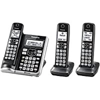 Panasonic KX-TGF573S Link2Cell BluetoothCordless Phone with Voice Assist and Answering Machine - 3 Handsets (Certified Refurbished)