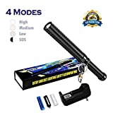 LED Flashlight High Powered, Bright Handheld Rechargeable Flashlight, Water Resistant Torch with Adjustable Zoom, 18650 Battery and Charger Included for Camping, Hiking Indoor and Outdoor