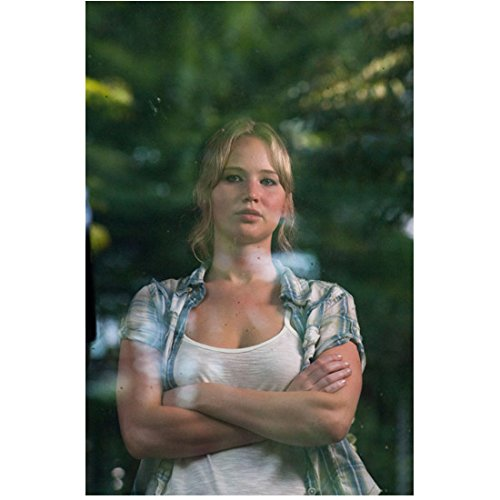 House at the End of the Street (2012) 8 inch by 10 inch PHOTOGRAPH Jennifer Lawrence from Waist Up Arms Crossed Through Glass - Lawrence Jennifer Glasses