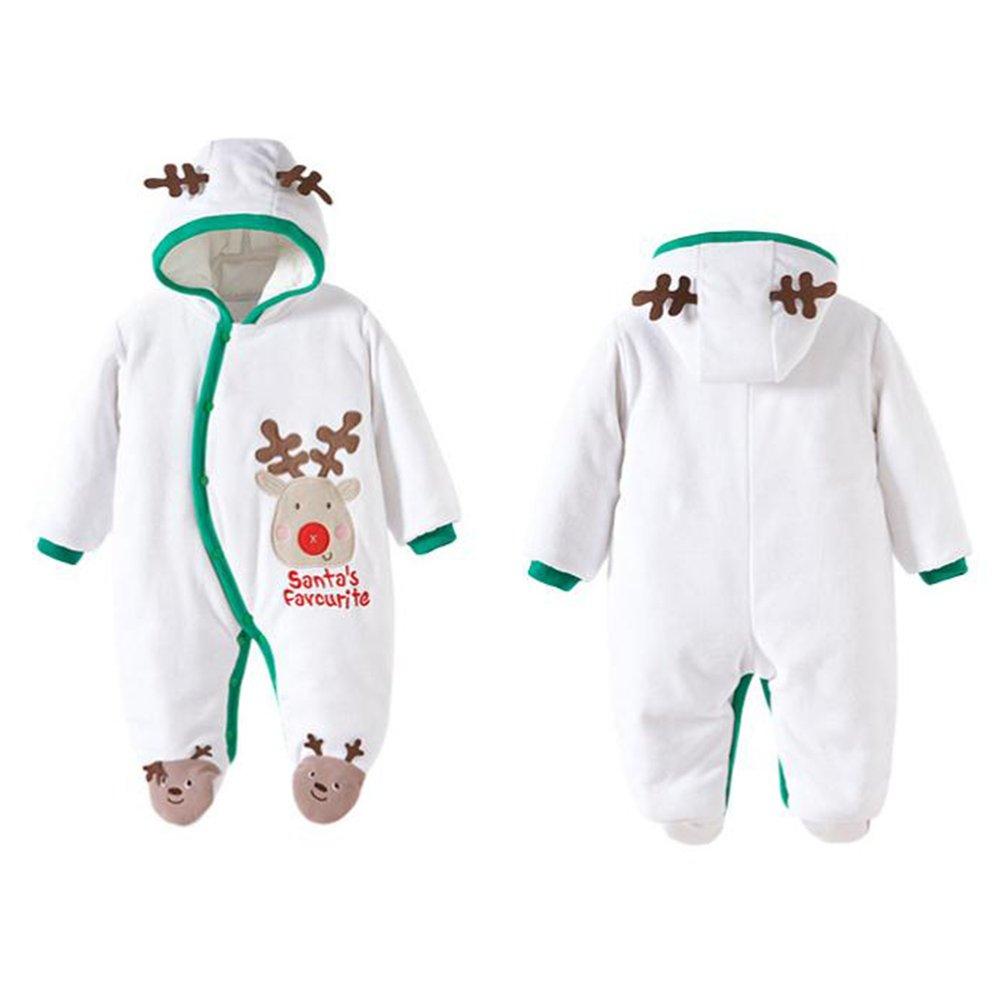Baby Overall Strampler Winterjacke M/äntel Onesie Unisex Baby Strampelanzug mit Kapuze 0-12 Monate Vine