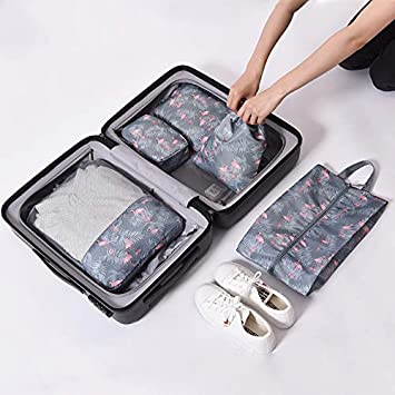885287b42a64 Amazon.com : Saasiiyo 5 Pcs/set Travel Organizer Make Up Bags Toilet ...