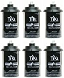 Tiki 1317054 Easy Pour Metal Replacement Torch Fuel Canisters w/Wick - Quantity 6