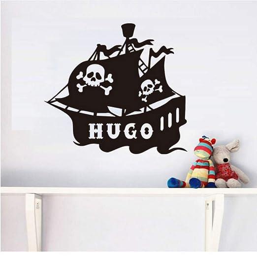 xiaoshuaige Etiqueta de la Pared para Niños Dormitorio Barco ...