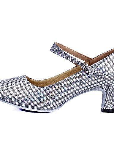 Blau Damen Silber Tanzschuhe Sparkling Gold Silber Latin Paillette Glitter ShangYi Niedriger Rot Rosa Absatz 8dOw5q8