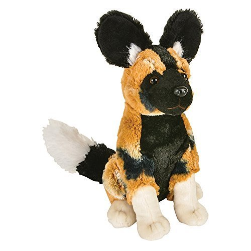 [African Wild Dog Sitting Plush Toy] (Make Lion Costume For Dogs)